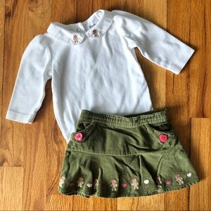Gymboree Two-Piece Outfit Set Gingerbread Girl